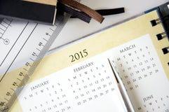 Close up calendar Stock Images