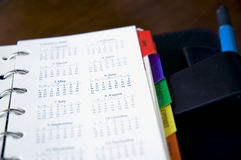 Close up calendars. Close up open calendars page Royalty Free Stock Photos