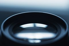 Close up camera lens, camera lens background royalty free stock photography