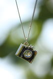Close up of camera pendant Stock Photos