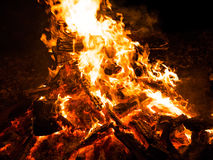 Close up of campfire Royalty Free Stock Photography