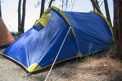 Close up of camping tent with arcs Stock Image