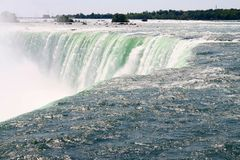 Close up of Canadian Horseshoe Falls- Niagara Falls. From Canada side Royalty Free Stock Photography