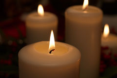 Close up of candle flame Stock Photography