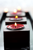 Close-up of candles Stock Images