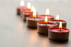 Close-up of candles Royalty Free Stock Photography
