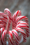 Close up of candy canes in a jar Royalty Free Stock Images