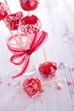 Candy, red lollipop. Close up on candy, red lollipop royalty free stock photo