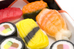 Close up of Candy Sushi Royalty Free Stock Images