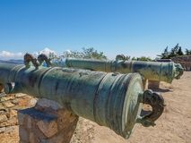 Close up of a cannon. Royalty Free Stock Photos