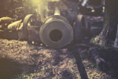 Close up on cannon Stock Image