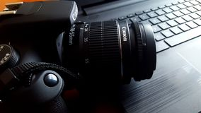 Close-up of Canon Camera Royalty Free Stock Photo