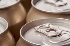 Close up of cans, landscape view Stock Image