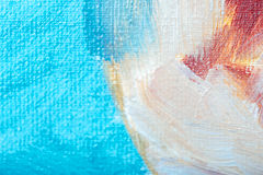 Close up of a canvas with picture on it Stock Images