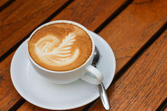 Close up of cappuccino coffee Royalty Free Stock Photo