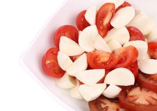 Close up of caprese salad. Macro. Stock Photo