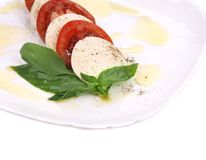 Close up of caprese salad. Stock Photos