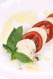 Close up of caprese salad. Royalty Free Stock Image