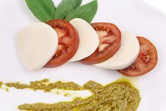 Close up of caprese salad. Stock Image