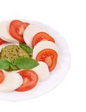 Close up of caprese salad. Stock Photography
