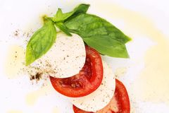 Close up of caprese salad. Royalty Free Stock Photo