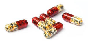 Close up of capsules Stock Images