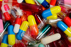 Close-up of Capsules Royalty Free Stock Photography
