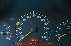 Close up of the car black dash royalty free stock photos