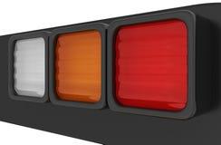 Close-up of car brake lights reversing lamps Stock Photos