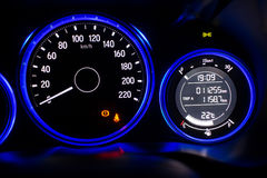 Close up of car dashboard Royalty Free Stock Photos