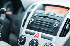 Close up of car dashboard or onboard computer Royalty Free Stock Photo