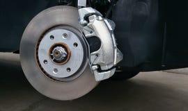 Close-up of a car disc brake Royalty Free Stock Photo