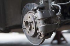 Car Disc Brake. Close up of car disc brake with selected focus for repair Stock Photography