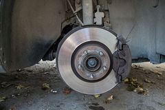 Close up of car disc brakes Stock Photos