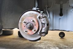 Close up of car disk brake Royalty Free Stock Photography