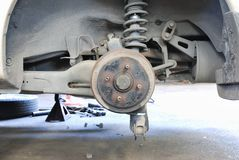 Close up of car drum brake Stock Photography