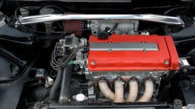 Close up of car engine Royalty Free Stock Photos
