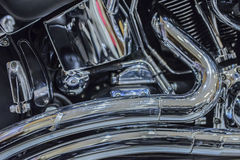 close up of Car Engine with metal Royalty Free Stock Photography