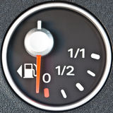 Close up of car fuel meter Royalty Free Stock Photos