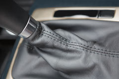 A close up of a car gearshift Royalty Free Stock Images