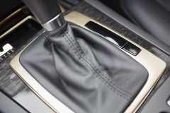 A close up of a car gearshift Stock Images
