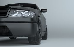 Close up of car on gray studio background Royalty Free Stock Photography