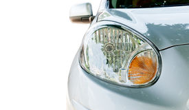 Close up of car headlight Royalty Free Stock Photo