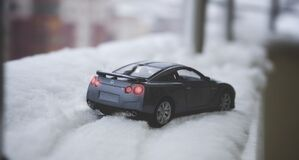Close-up of Car on Snow Stock Image