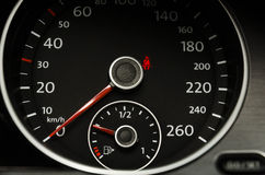Close up of a car speedometer Royalty Free Stock Image