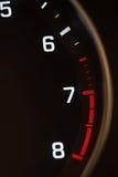 Close-up of car tachometer Stock Photos