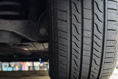 Close-Up of Car Tires Stock Images