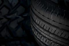 Close up car tires stock image
