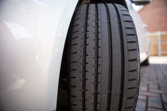 Close up of a car tyre Stock Image