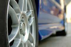 Close up of car wheel Stock Photo